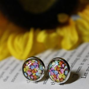 NWT Candy Conversation Hearts Earrings